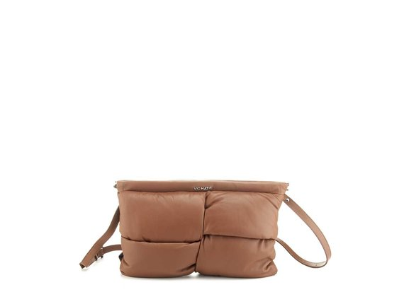 Arisa<br />Brown leather clutch - Brown