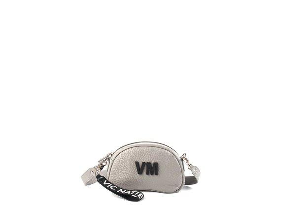Babs Small L<br />Light-grey leather shoulder bag