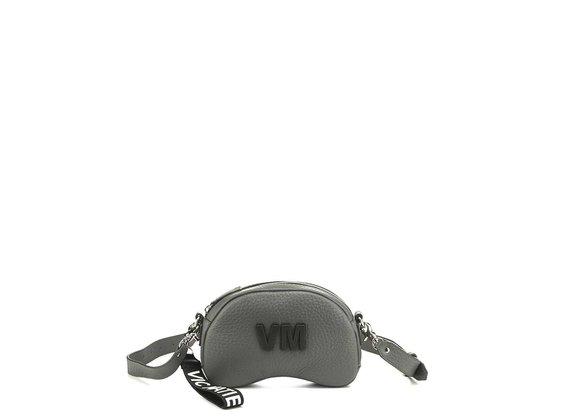 Babs Small L<br />Smog-grey leather shoulder bag