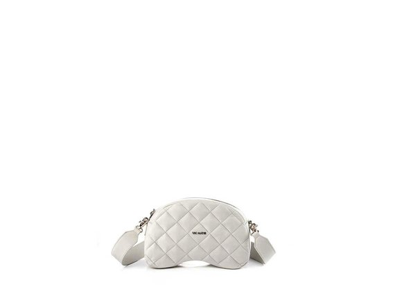 Babs Small T<br />Quilted ice-white leather shoulder bag