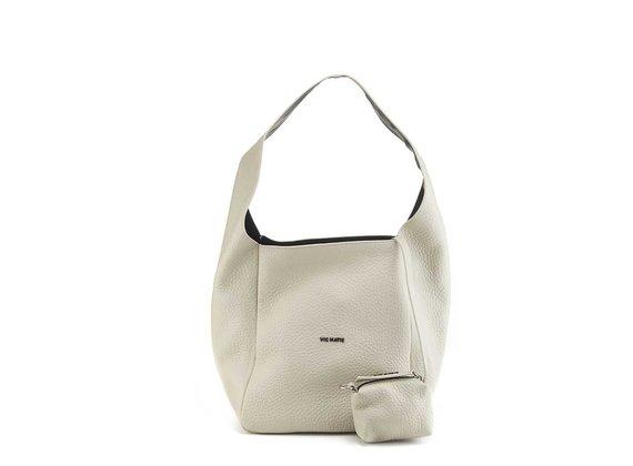 Lilibeth Big<br />Ice-white leather bucket bag