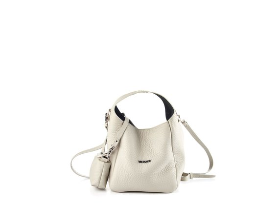 Lilibeth Small<br />Small ice-white leather bucket bag