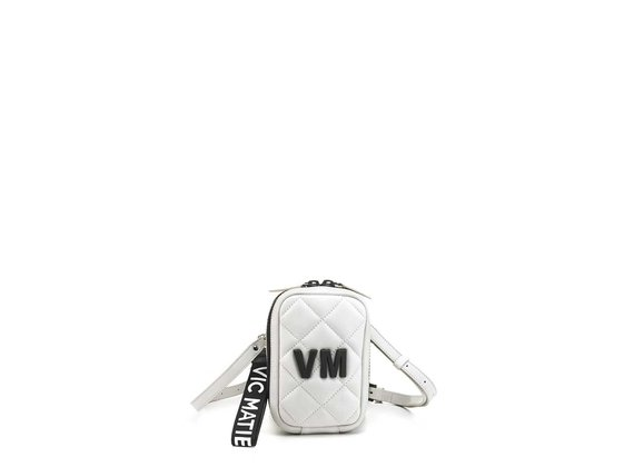 Elide<br />Small ice-white leather bag
