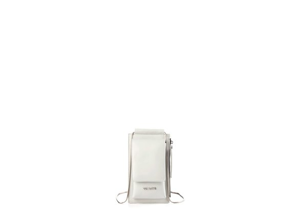 Alla<br />Ice-white leather phone case