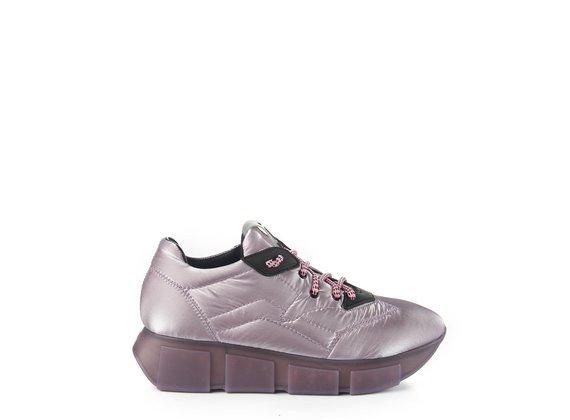sneakers Run in nylon seta lilla