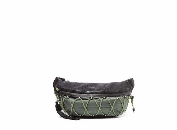 Hendrix<br />Large khaki bumbag with elastic cord