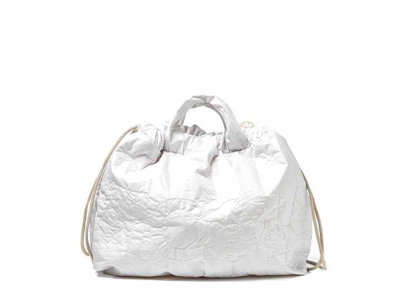 Penelope<br />Borsa zaino off-white richiudibile