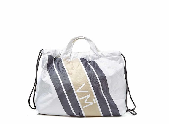 Penelope<br />Collapsible backpack with beige print