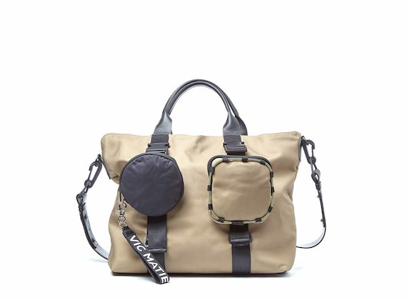 Beth<br />Shopping bag beige con tasche estraibili
