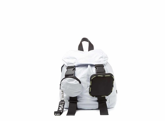 Becky<br />White backpack with removable pockets