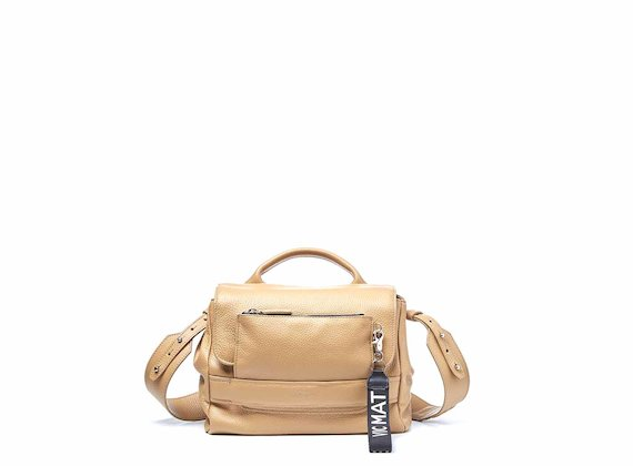 Uma<br />Supple tan satchel bag with pocket