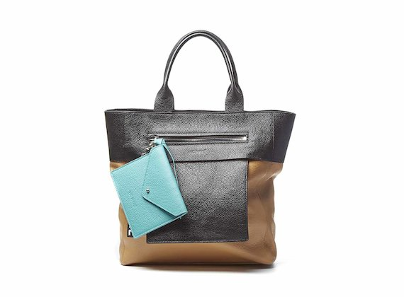 Berty<br />Shopping bag cuoio con pochette estraibile