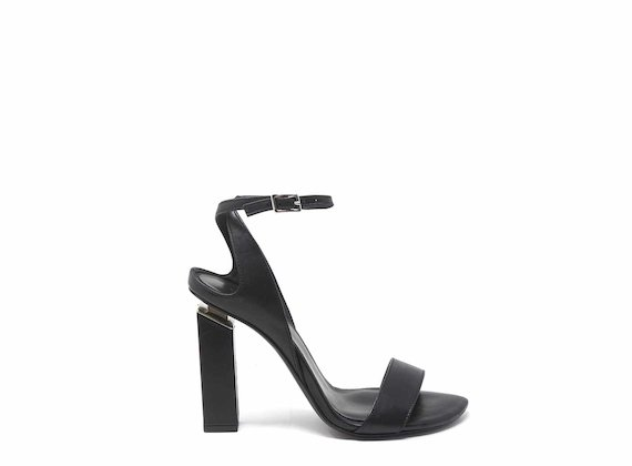 High-heeled sandals with ankle strap