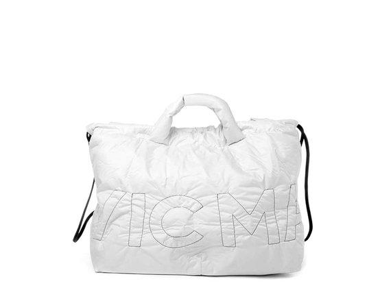 Penelope<br />Verschließbare Maxi-Tasche aus weißem Nylon