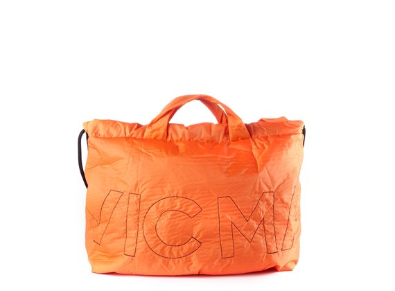Penelope<br />Verschließbare Maxi-Tasche aus orangefarbenem Nylon