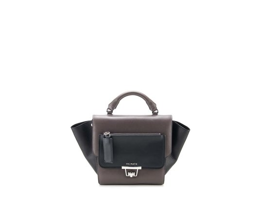 Ginevra<br> satchel in clay-brown calfskin