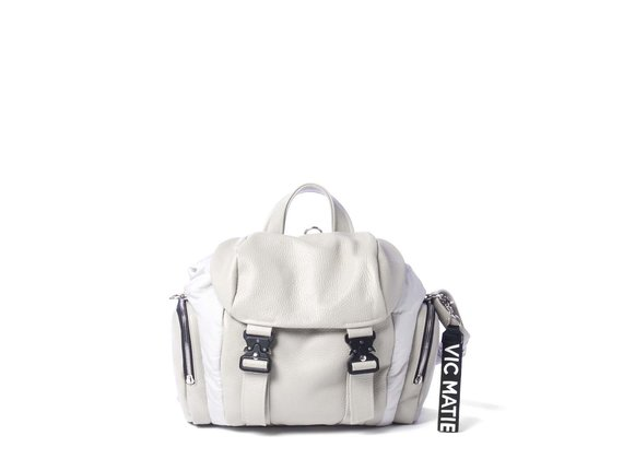 Kate<br> ice-white backpack with side pockets