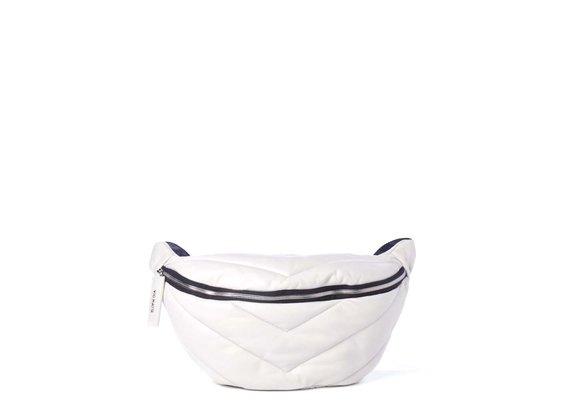 Egle<br>Grand sac ceinture gris polaire en cuir matelassé
