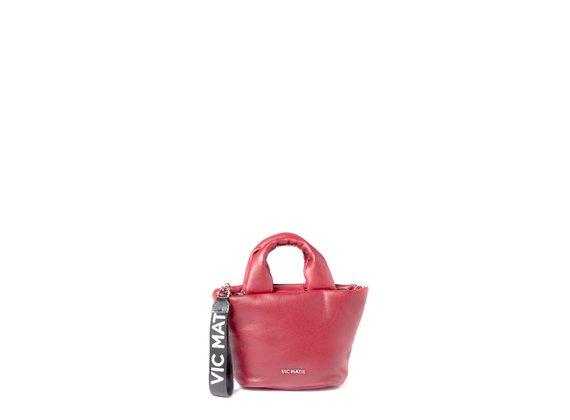 Ruth<br>Mini-sac en cuir rouge rembourré