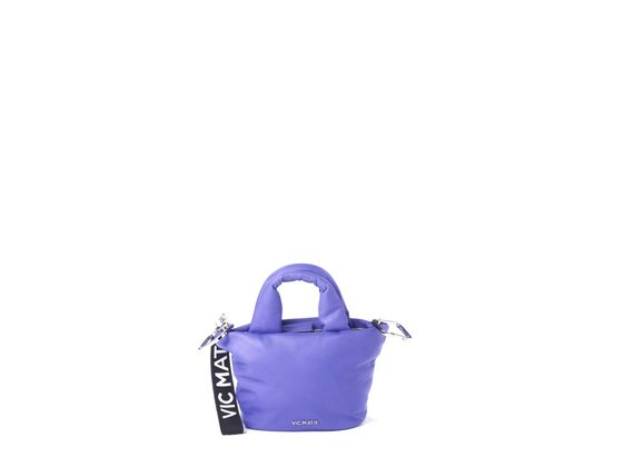 Ruth<br> padded purple leather mini bag