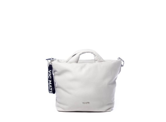 Tapered Ruth Big<br> bag in ice-white leather