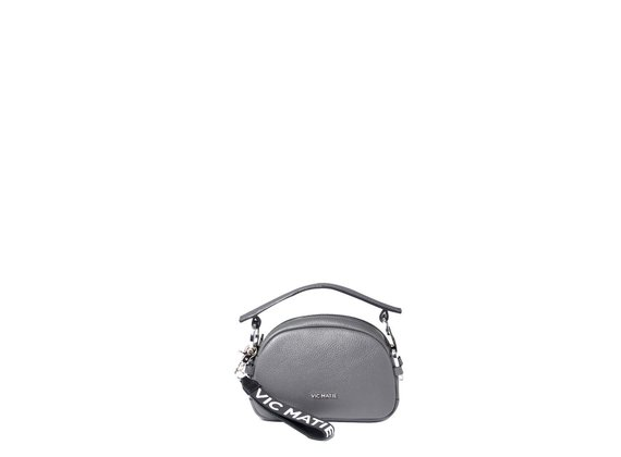 Babs Small<br>Mini bag anelli grigia.