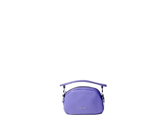 Babs Small<br> purple mini bag with rings.