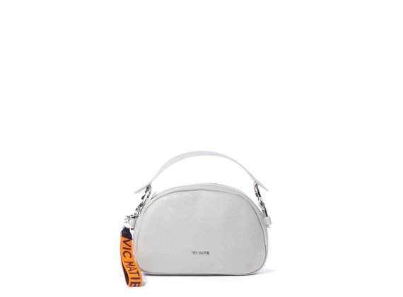 Babs Big<br> pearl-white shoulder bag