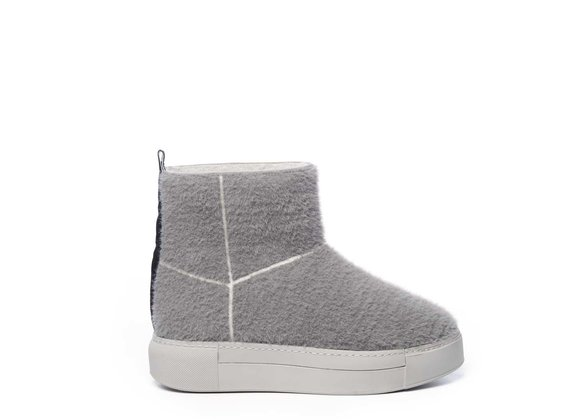 Grey knit tube trainers with matching sole