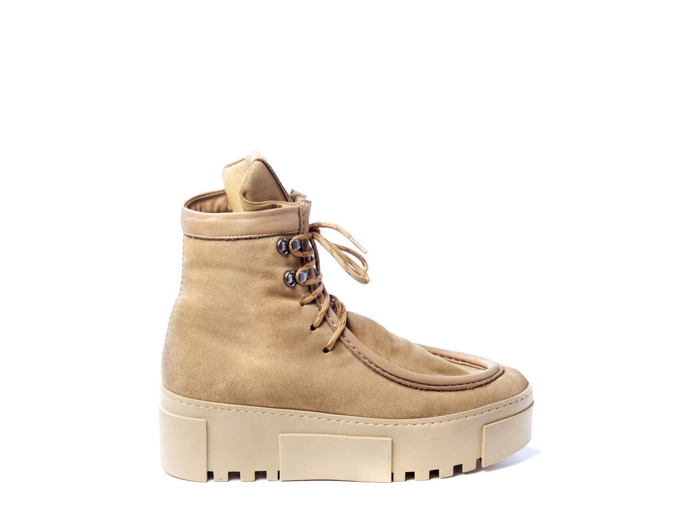 Honey-yellow paraboot-style trainers in