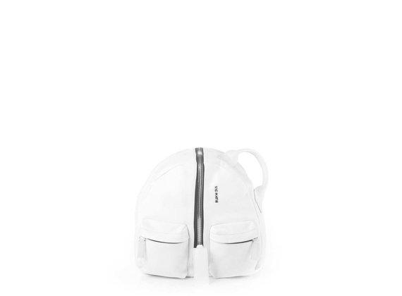 Aiko<br />Rucksack aus weißem Leder