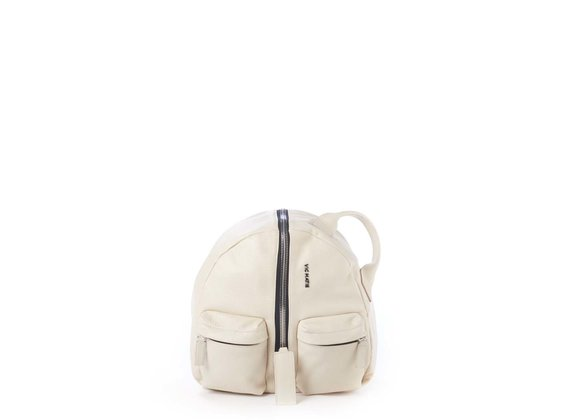 Aiko<br />Ivory-coloured leather backpack - Beige