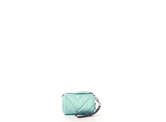 Deva Small<br />Mini sky-blue leather barrel bag