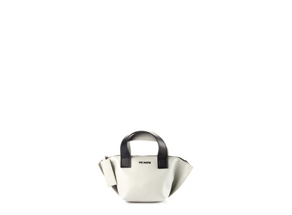 Justine<br /> Mini black/white trapeze bag
