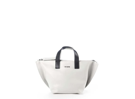 Alizee<br /> Black/white trapeze bag