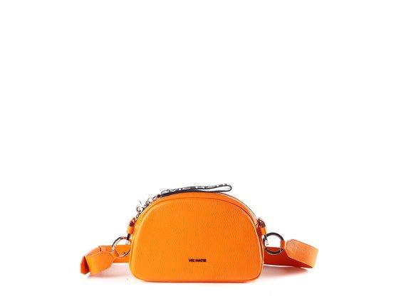 Babs Big<br> Orangefarbene Ledertasche
