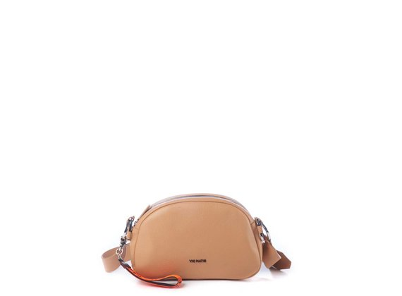Babs Big<br> Tan-brown leather bag