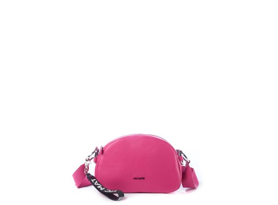 Babs Big<br> Magenta leather bag