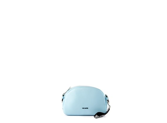 Babs Big<br> Sky-blue leather bag - Light Blue