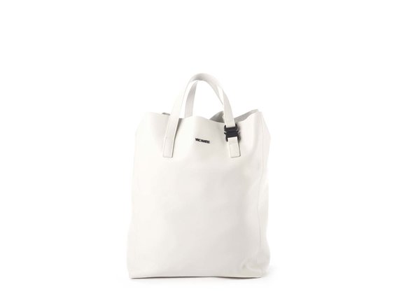 Olivia<br> Large ivory-coloured shopper bag