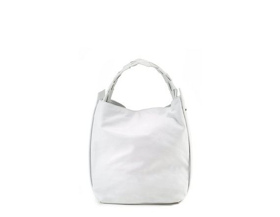 Vivian<br> White shopper bag