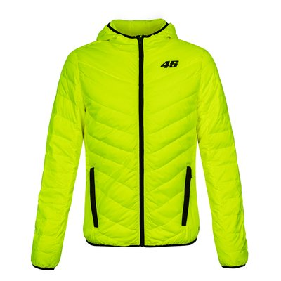 Core down jacket yellow fluo