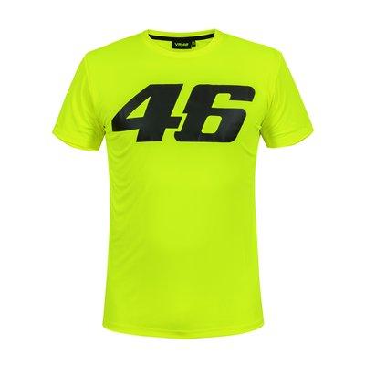 Tee-shirt Core jaune fluo à gros numéro46