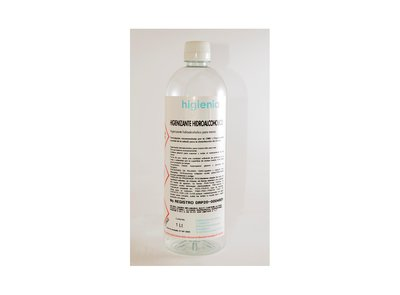 Hidroalcohol higienizante 1L - Pack 45 uno. - 5.65€/u (sin IVA)