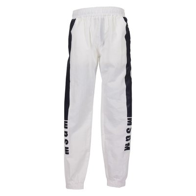 White techno pants