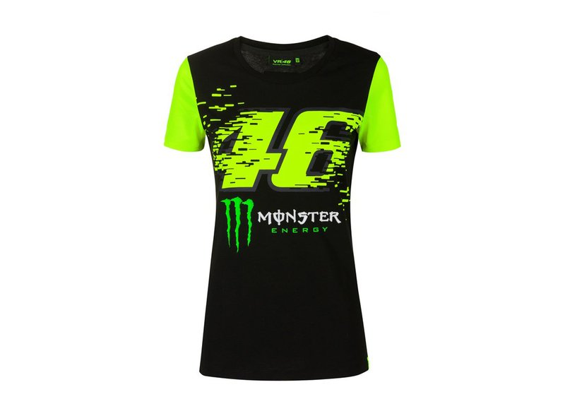 T-shirt femme VR46 Monster - Black