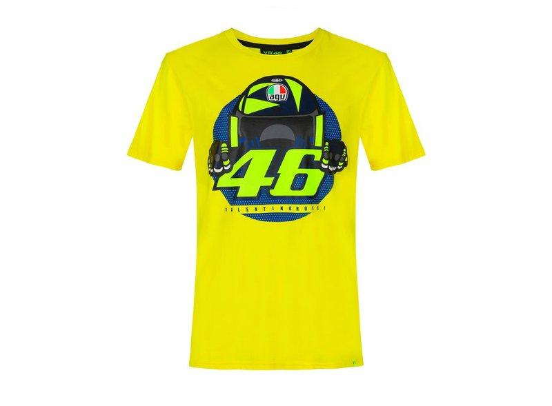 Camiseta Valentino Rossi Casco AGV - Yellow