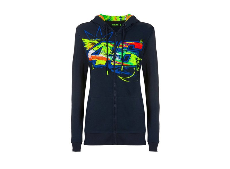 Sweat-shirt femme VR46 Winter Test - Blue