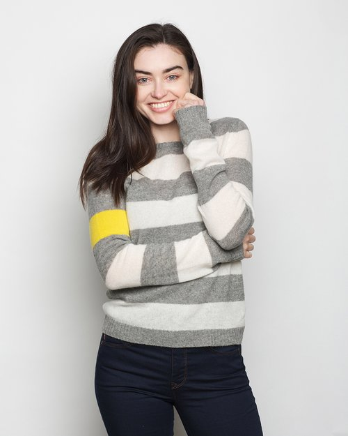 Pure Cashmere Secret Stripe Crew