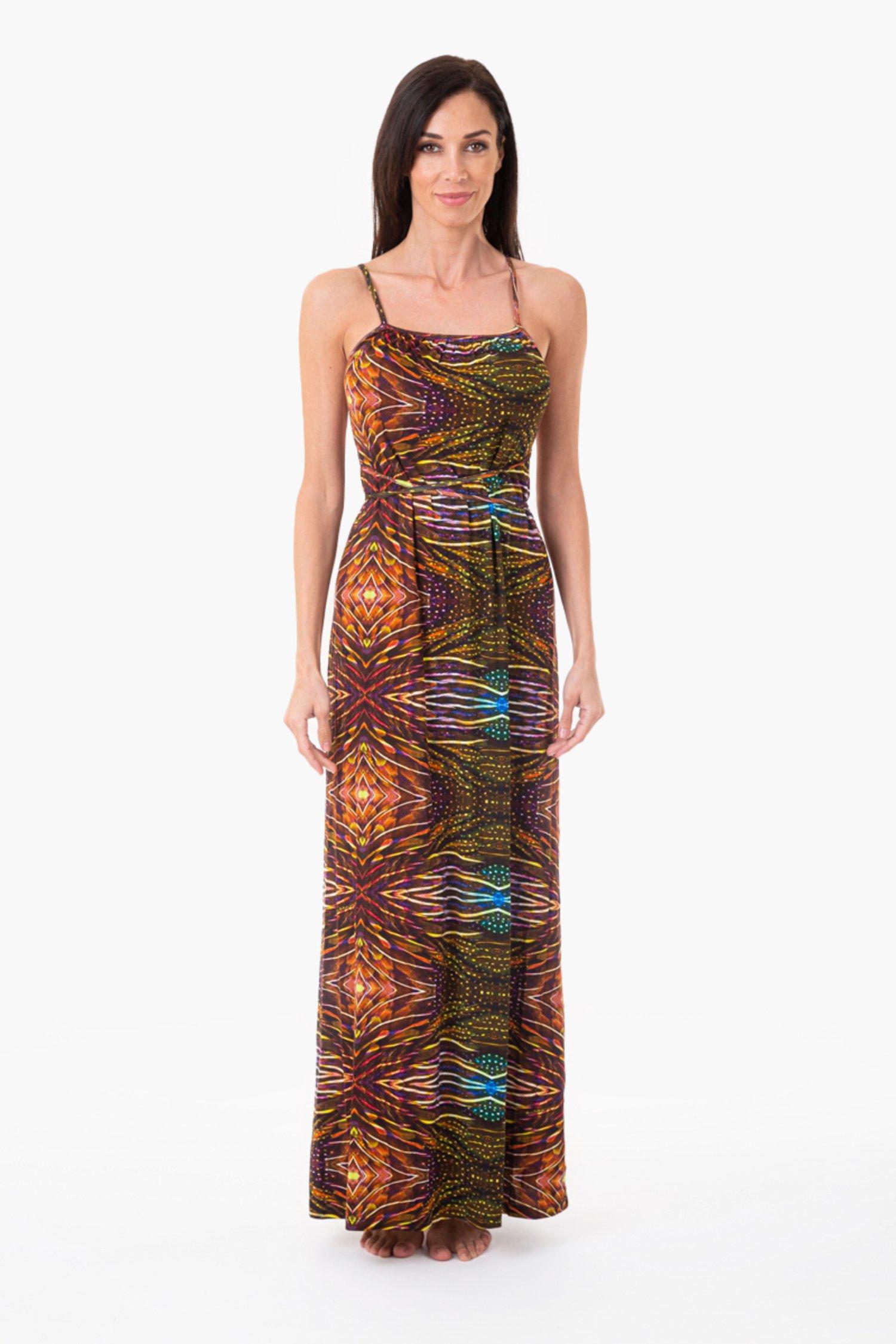 LONG DRESS - Plumage Ambra